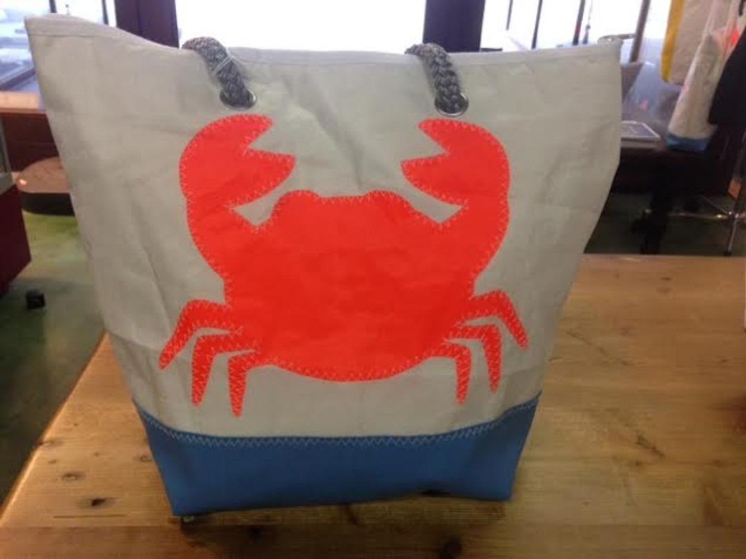 Shopping Bag Oranje Krab - Shopping De Panne