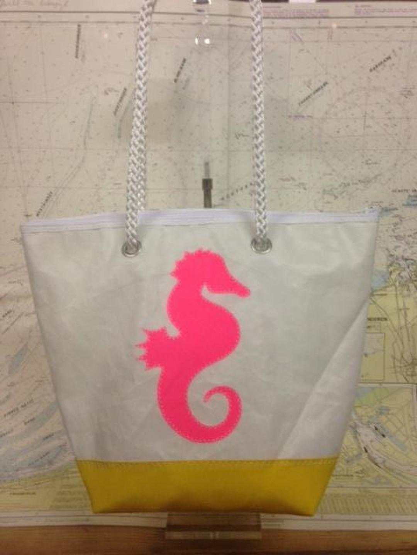 Shopping Bag Roze Zeepaardje - Shopping De Panne
