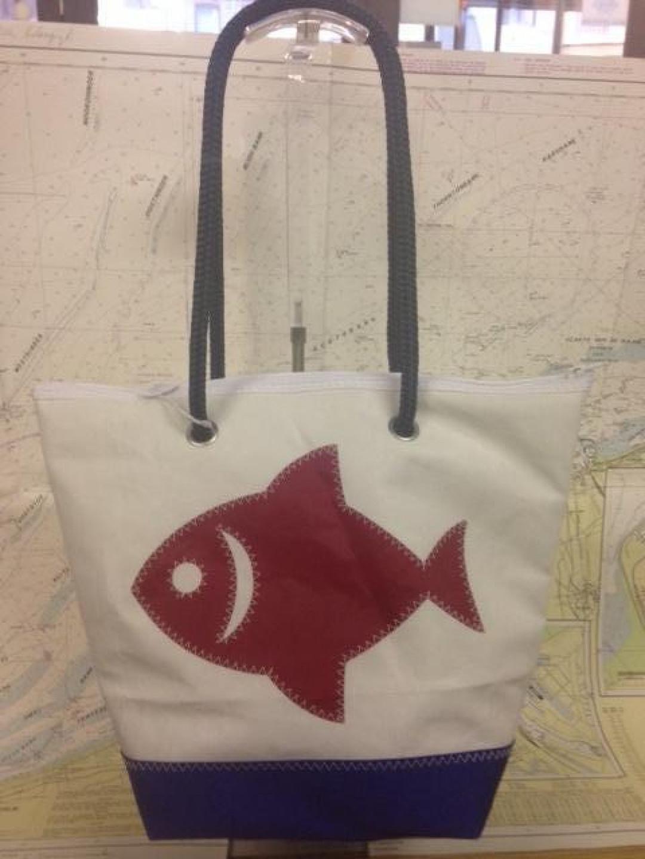 Shopping Bag Rode Vis - Shopping De Panne