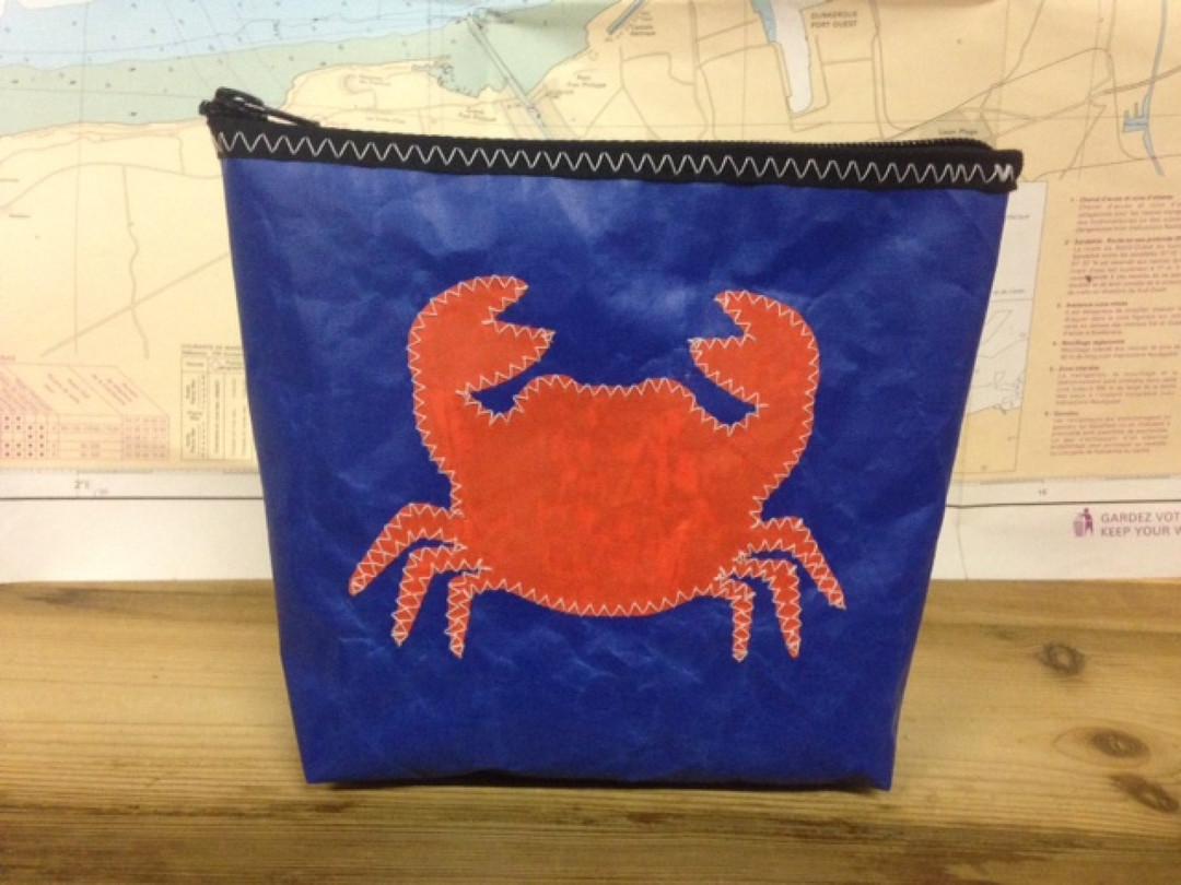 Toiletzak klein krab (blauw) - Shopping De Panne