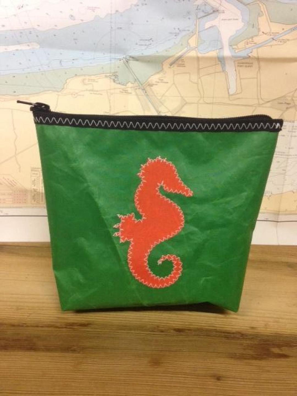 Toiletzak klein zeepaard (groen) - Shopping De Panne