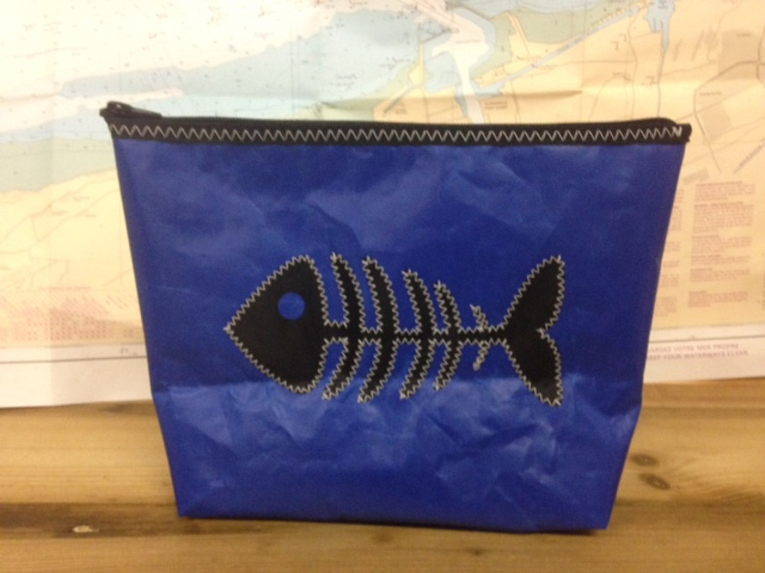 Toiletzak groot vis (blauw) - Shopping De Panne