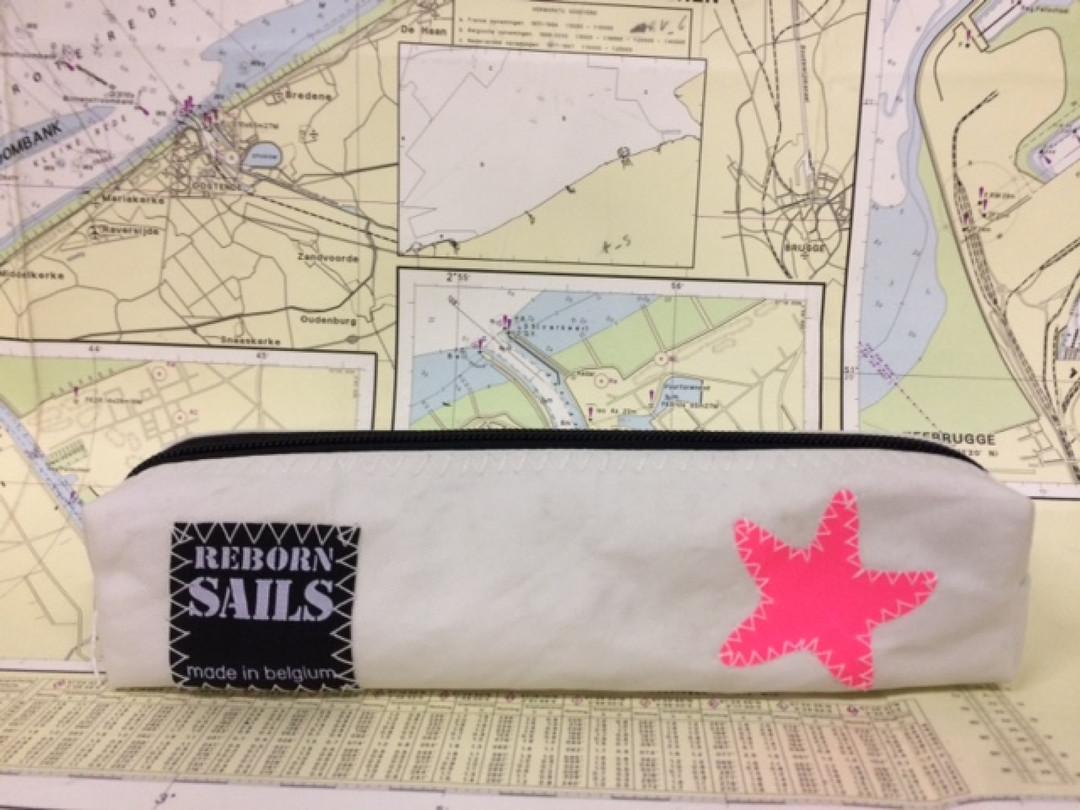 Pennenzak roze zeester - Shopping De Panne