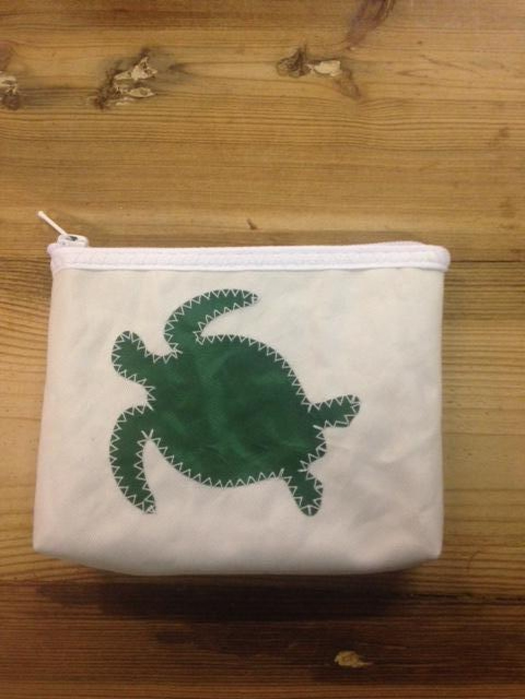 Geldbeugel groene schildpad - Shopping De Panne